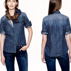 J. Crew chambray keeper shirt in star dot